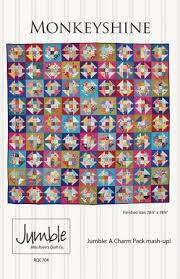 Monkeyshine Jumble Quilt Pattern by Miss Rosie &  Adamdwight.com