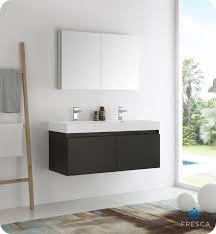modern bathroom double sinks. Fresca Mezzo 48\ Modern Bathroom Double Sinks