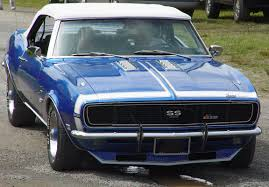 1968 Chevrolet Camaro Convertible SS 396 - Blue - Front