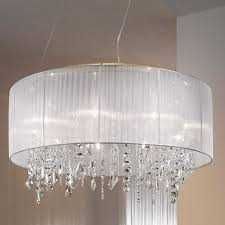 full size of lighting attractive white drum shade chandelier with crystals 22 2 awesome red lamp