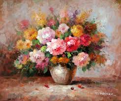 impressionistic oil paintings of flowers