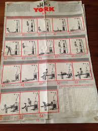 32 Unfolded York 925 Multi Gym Exercise Chart