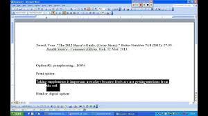 Mla Format Writing Option 1 100 Paraphrasing And Citation