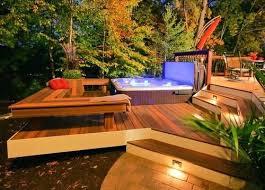 outdoor hot tub decks diy outdoor hot tub cover