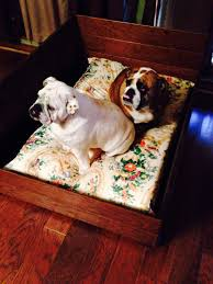 dog bed made from leftover hardwood floors