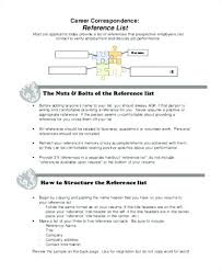 Reference List Format For Resume Reference Page Template Resume Sample Of Resume Reference Page List