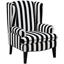 black and white striped furniture. universal lighting and decor paris black white velvet wingback 600 striped furniture