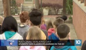the columbus gifted academy gets active with the walking clroom