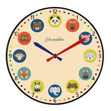 new arrival no frame mdf wall clock modern animal cartoon design fashion wood decorative diy 28cm children room wall clock small round wall clocks small