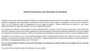 Petition Office Undergraduate Studies Forms Cal State La