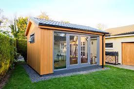 prefab garden office. Artistic Garden Workspace Designs For Home And Office : Design Applying Clear Glass Doors Prefab .