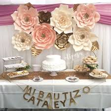 Giant Paper Flower Backdrop 8 Pc Giant Paper Flowers Backdrop Candy Buffet By Shopoliposa