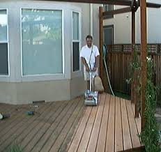 careful decks are not quite the same thing as porches you can use floor sanders