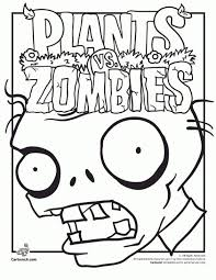 Free Printable Plants Vs Zombies Coloring Page Fun Coloring Pages