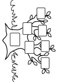 Small Picture Coloring page for kids a simple fun family tree chart