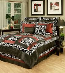 intriguing zebra bedroom set home print bedding