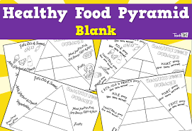 Blank Pyramid Diagram Healthy Food Pyramid Blank Teacher Resources And