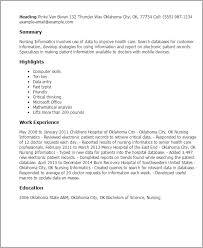 Resume Templates: Nursing Informatics