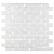 white subway tile wall. Perfect Subway Merola Tile Metro Subway Matte White 1134 In X 11 To Wall X