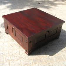 ... Coffee Table Square Coffee Table With Glass Top And Drawers Square  Storage Box Trunk Sofa Coffee ...