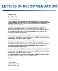 Example Of Letter Of Recommendation 9 Samples In Word Pdf