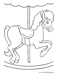 Small Picture Horses A carousel horse coloring page