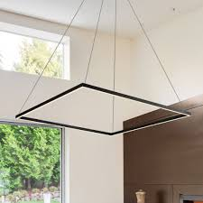 atria vmc35511bl 39 led chandelier adjule suspension fixture modern square chandelier light fixture in black