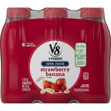 V8 Strawberry Banana Light V8 Strawberry Banana 12 Oz 6 Pack Walmart Com