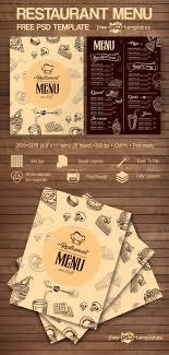 038 Restaurant Menu Template Free Psd Imposing Ideas Design