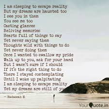 Escape Quotes Fascinating I Am Sleeping To Escape R Quotes Writings By Hadassah Egbedi