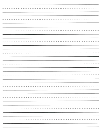 Kindergarten Lined Paper Template Free Lined Paper Template Claff Co