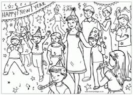 Small Picture New Years Coloring Page New Years Clock nebulosabarcom