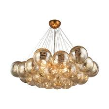 titan lighting cielo 6 light antique gold leaf chandelier