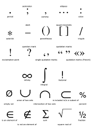 Punctuation Marks Keyboard And Math Symbols In English Ietls