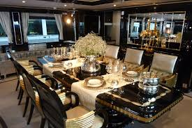 luxury dining room. Appealing Table Centerpiece Mixed Gothic Luxury Dining Room Sets With Black And White Color Scheme