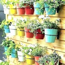 hanging flower pots on wall wall hanging plant pot wall mount planter amusing wall flower pot