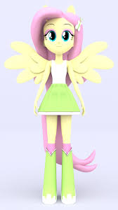 Equestria Girls Character Designs 3d Fluttershy By Mkevinadam On Deviantart My Little Pony