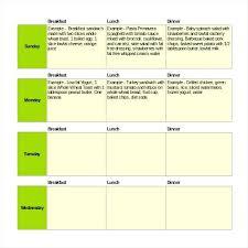 Excel Weekly Meal Planner Meal Planner Excel Meal Plan Template Discopolis Club