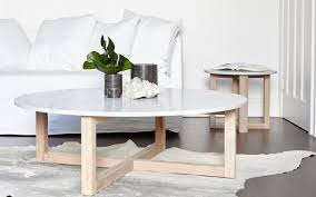 coffee table. Kara Round Marble Coffee Table