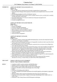 District Manager Resume Examples Associate District Manager Resume Samples Velvet Jobs 22