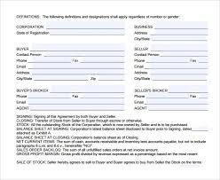 Template For Purchase Agreement - Costumepartyrun