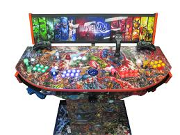 4 Player Arcade Cabinet Kit 4 Player Custom Video Arcade Control Panel Mametm Videos And Ebay