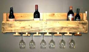 wood wine glass racks wooden wine glass holder wood pallet and rack floating shelves wall mounted