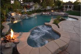 inground pools with waterfalls and hot tubs. Contemporary Waterfalls Tropical Inground Pool With A Hot Tub And Waterfall For Inground Pools With Waterfalls And Hot Tubs O