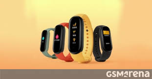 <b>New Xiaomi Mi Band</b> 5 images appear showing official colors ...