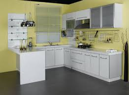 Yellow Kitchen White Cabinets White Kitchen Cabinets Open Concept Quicuacom