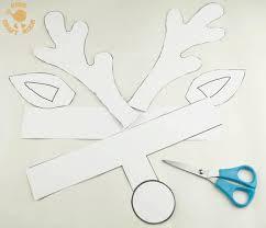 printable reindeer antlers step 1
