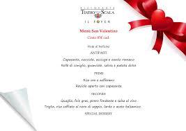 Ristorante Teatro alla Scala IL FOYER - Speciale menù per San Valentino