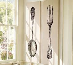 fork spoon wall art pottery barn