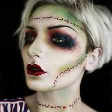 resultado de imagem para maquiagem frankenstein feminina
